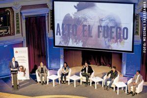 presentación del documental Alto el fuego sobre niños soldado en Colombia Misiones Salesianas Madrid febrero 2017