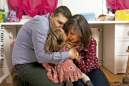 Loli y David padres de Sofía que nació por gestación subrogada