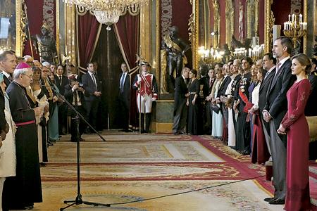 recepción de los Reyes de España al Cuerpo Diplomático habla nuncio Renzo Fratini decano