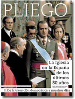 portada Pliego VN La Iglesia en la España de los últimos 80 años transición hoy 3024 febrero 2017