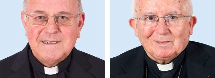 Ricardo Blázquez y Antonio Cañizares, presidente y vicepresidente de la Conferencia Episcopal Española 2017-2020 marzo 2017
