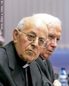 cardenales Ricardo Blázquez y Antonio Cañizares presidente y vicepresidente de la CEE marzo 2017 Asamblea Plenaria elecciones