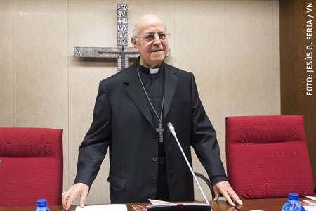 Ricardo Blázquez, arzobispo de Valladolid y presidente de la Conferencia Episcopal Española CEE en la Asamblea Plenaria 109 marzo 2017