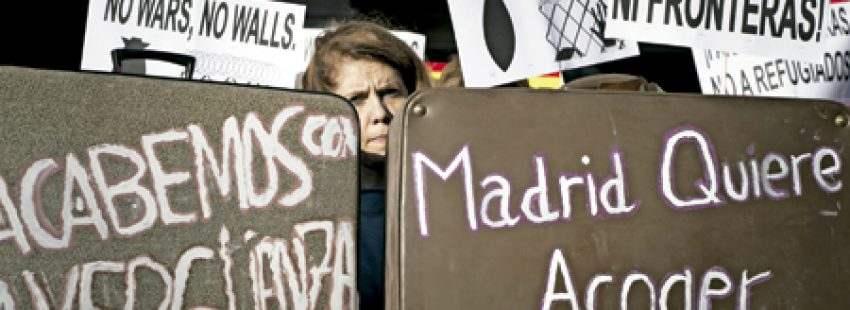 concentración en Madrid en apoyo a los refugiados 26 febrero 2017
