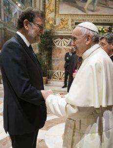 papa Francisco con Mariano Rajoy 27 jefes de Estado y de Gobierno de la Unión Europea 60 aniversario del Tratado de Roma Sala Regia Palacio Apostólico 24 marzo 2017