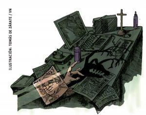ilustración de Tomás de Zárate para artículo Jesús Sánchez Adalid 3028