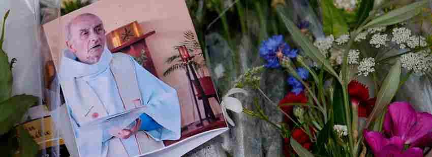 Homenaje al sacerdote asesinado Jacques Hamel a manos del ISIS en julio de 2016