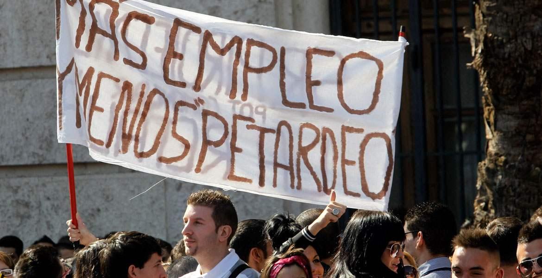 Protesta por el trabajo decente Manifestación Crisis