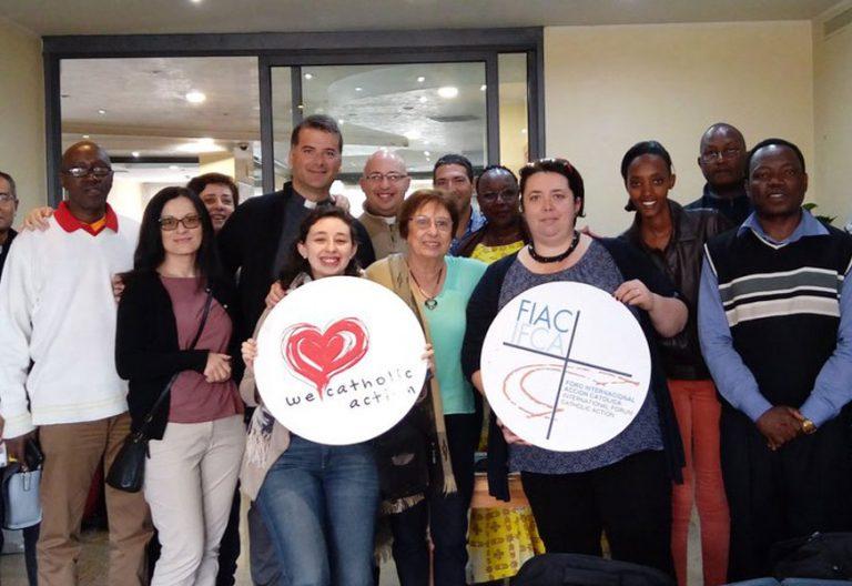 participantes en el Foro Internacional de Acción Católica y II Congreso Internacional Roma Vaticano abril 2017