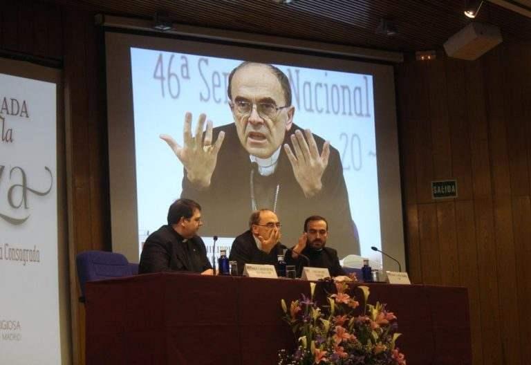 El cardenal Barbarin en la 46ª Semana Nacional para los Institutos de Vida Consagrada el 22 de abril de 2017