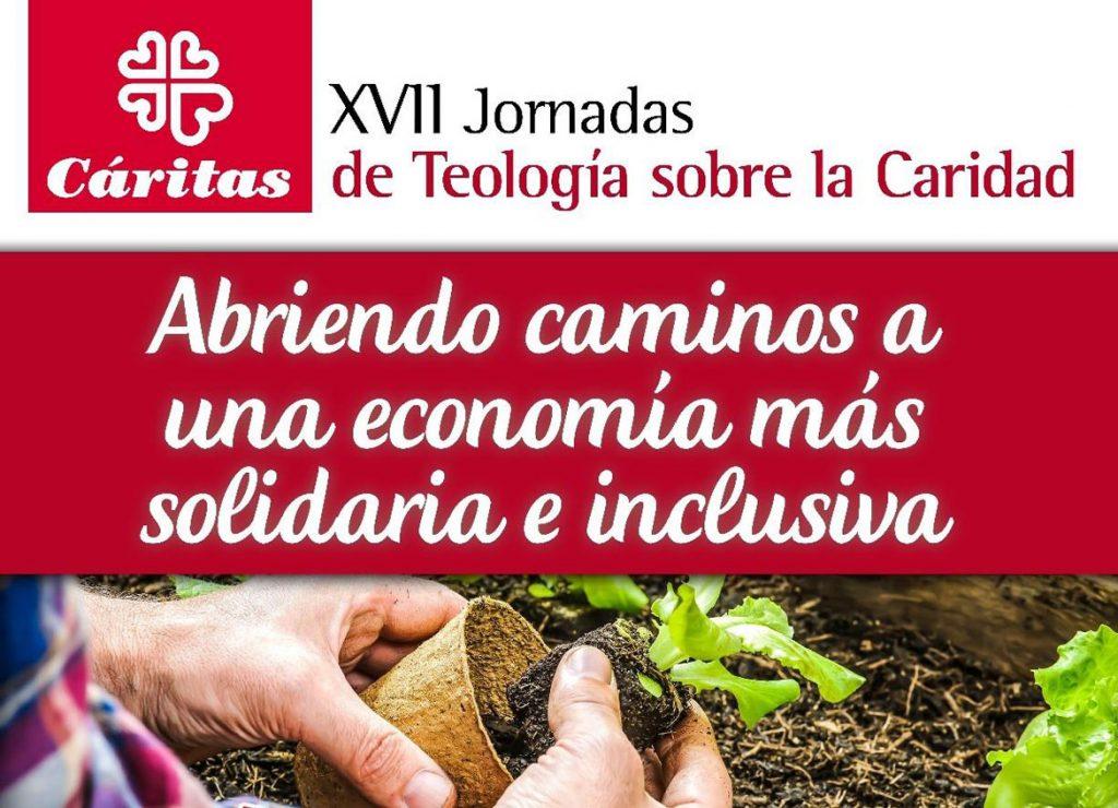 Cartel de las XVII Jornadas de Teología de la Caridad en Santiago de Compostela abril 2017