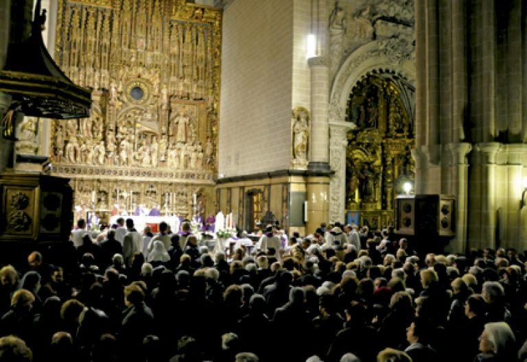 catedral seo de Zaragoza durante una celebración
