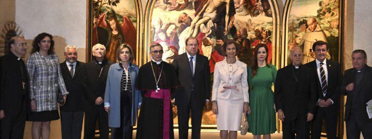 Reina Sofía, cardenal Ricardo Blázquez y César Franco inauguran Las Edades del Hombre Reconciliare Cuéllar Segovia 24 abril 2017