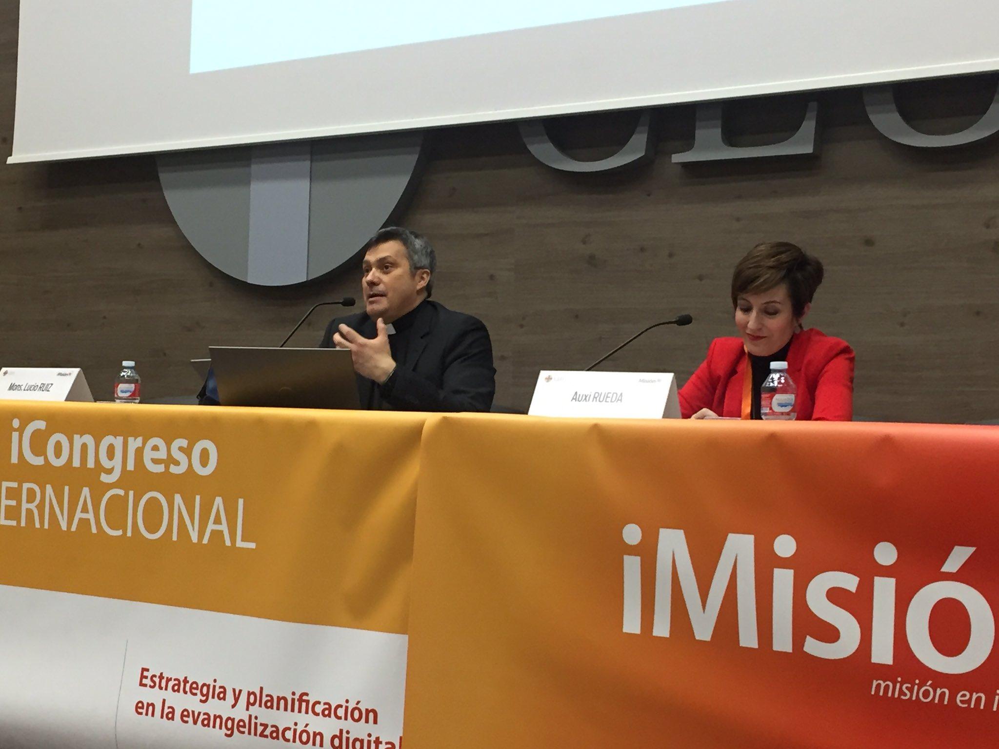 Lucio Ruiz, responsable de internet de la Santa Sede en el congreso iMision