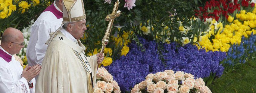 papa Francisco Semana Santa 2017 celebración del Domingo de Resurrección en la Plaza de San Pedro Vaticano 16 abril