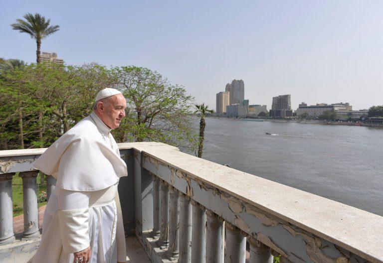 papa Francisco viaje Egipto vistas del Nilo desde la sede de la Nunciatura en El Cairo 28-29 abril 2017