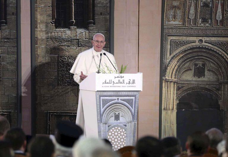 papa Francisco discursos en Egipto viaje apostólico 28-29 abril 2017