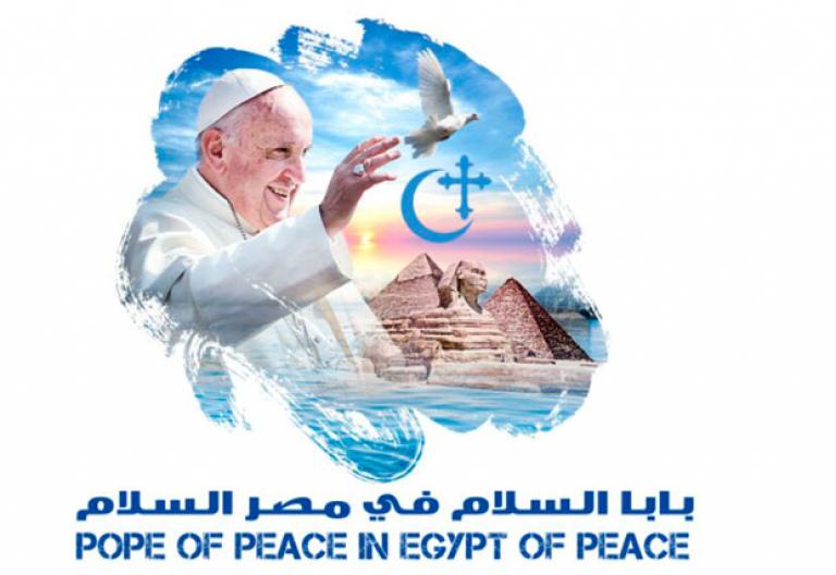 papa Francisco viaje a Egipto logo y programa oficial de la visita apostólica 28-29 abril 2017