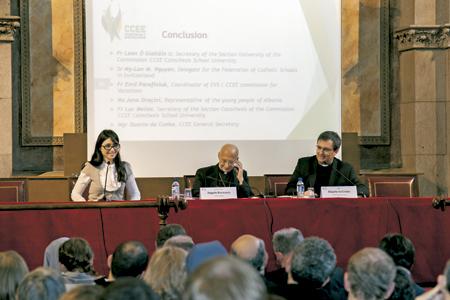 Simposio de obispos europeos CCEE en Barcelona para hablar de los jóvenes marzo 2017