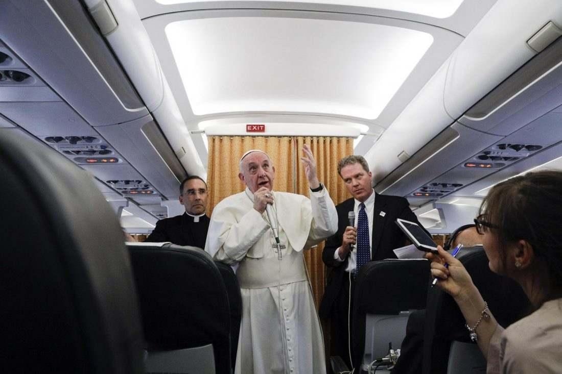 El Papa, en el vuelo de regreso de El Cairo/EFE