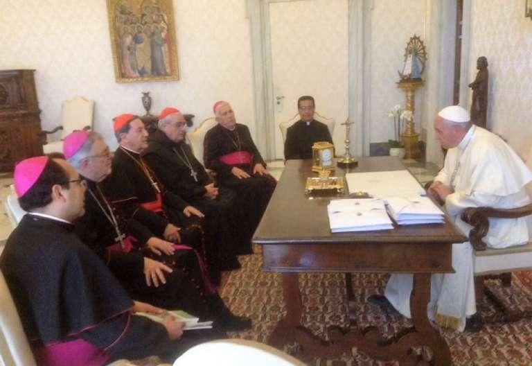 El Papa con la presidencia del CELAM
