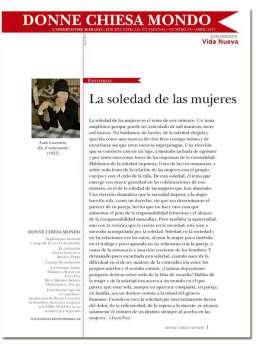 portada Donne Chiesa Mondo n 24 3034 mayo 2017 la soledad de las mujeres
