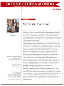 portada Donne Chiesa Mondo n 25 María y los otros suplemento VN 3037 mayo 2017