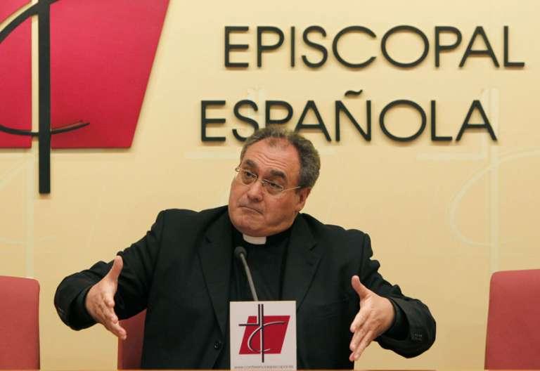 Jose María Gil Tamayo, durante una rueda de prensa secretario general Conferencia Episcopal Española CEE archivo