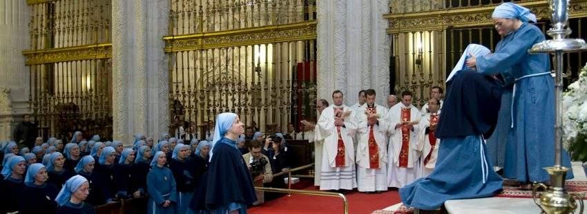 Religiosas de Iesu Communio, en una foto de archivo se intalan en Valencia 10 de junio de 2017
