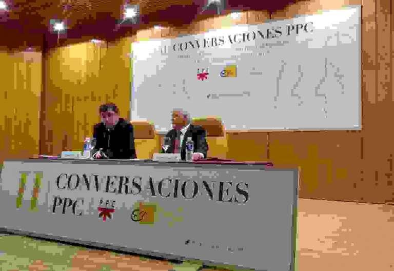 Marciano Vidal, durante su ponencia en II Conversaciones PPC el 5 de mayo de 2017
