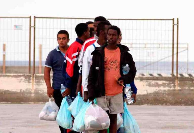 Inmigrantes en Lampedusa, en una foto de archivo