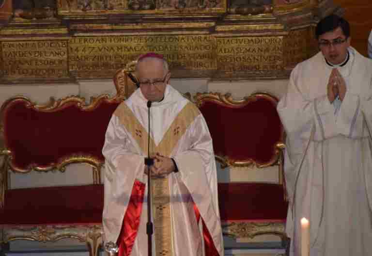 El obispo de Zamora, Gregorio Martínez, en la celebración por la Jornada del Clero San Juan de Ávila 10 de mayo de 2017
