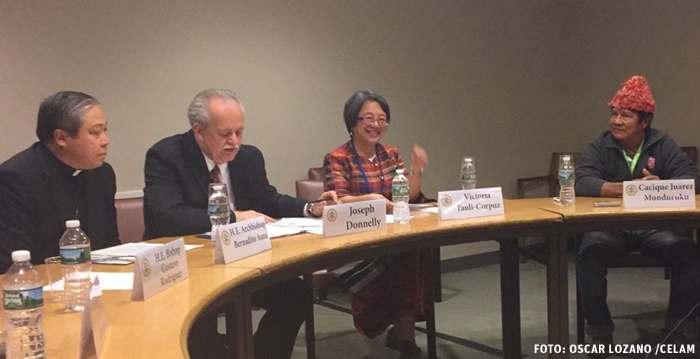 miembros de la REPAM se reúnen en la ONU para denunciar la situación de los pueblos indígenas en Brasil mayo 2017