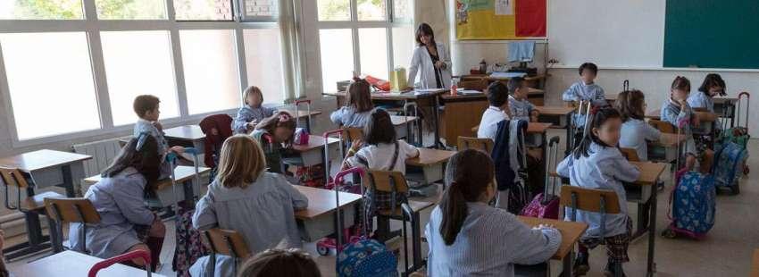 Alumnos en clase de Religión, en una foto de archivo curso 2016/2017
