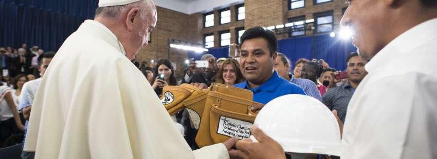 papa Francisco encuentro con trabajadores obreros