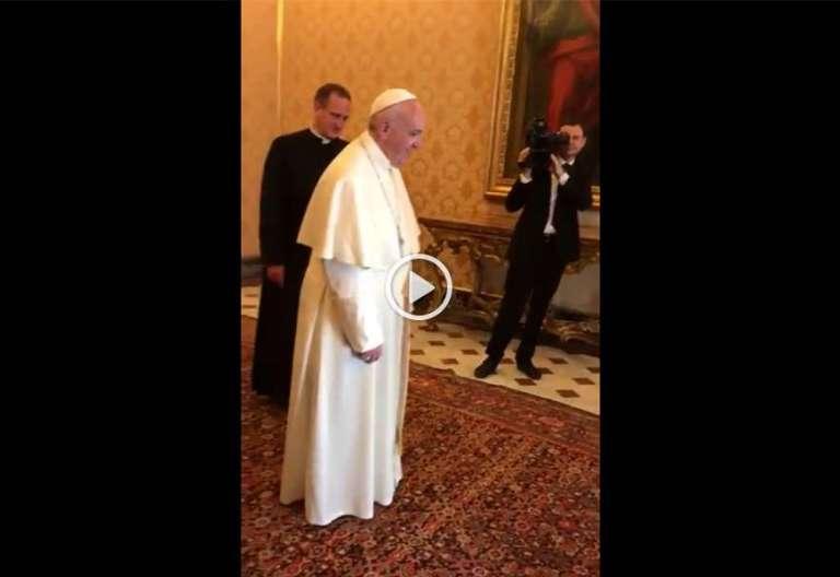 papa Francisco vídeo baila canción tradicional judíos hasídicos audiencia mayo 2017