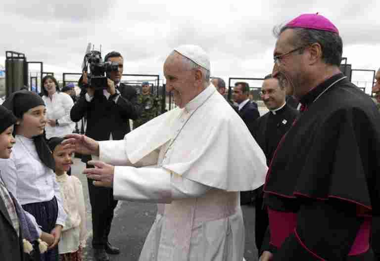 papa Francisco llega a Portugal visita Fátima 12-13 mayo 2017