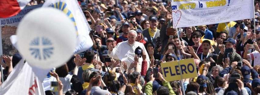 Papa Francisco en una audiencia general