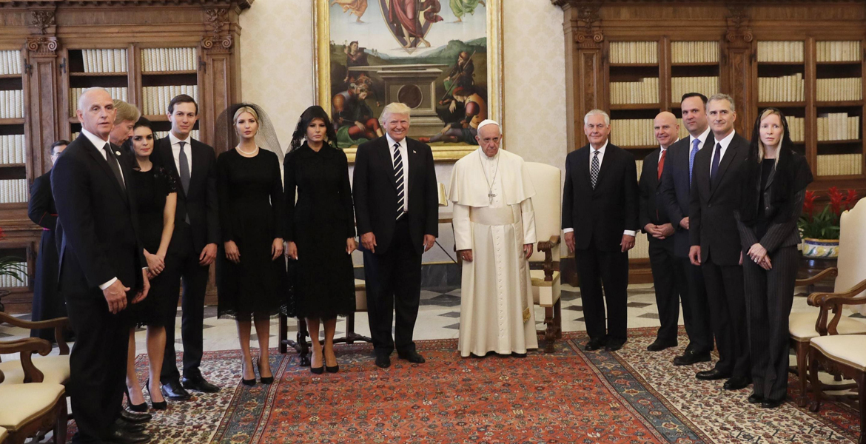 papa Francisco Donald Trump foto de familia