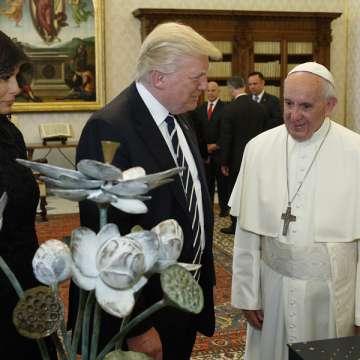 papa Francisco Donald Trump presidente Estados Unidos encuentro en el Vaticano primera visita 24 mayo 2017
