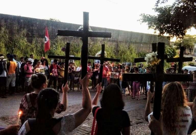 protesta contra la masacre en Brasil estado de Pará contra varios campesinos