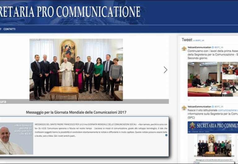 página web de la Secretaría de Comunicación vaticana