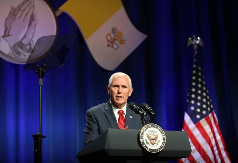 Mike Pence, en su discurso durante el Desayuno de Oración Católica vicepresidente de Estados Unidos 6 de junio de 2017