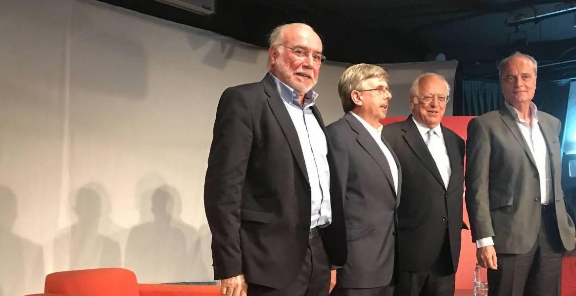 De izda. a dcha., José María Felices, Luis Fernando Crespo, Juan de Isasa y Javier Cortés