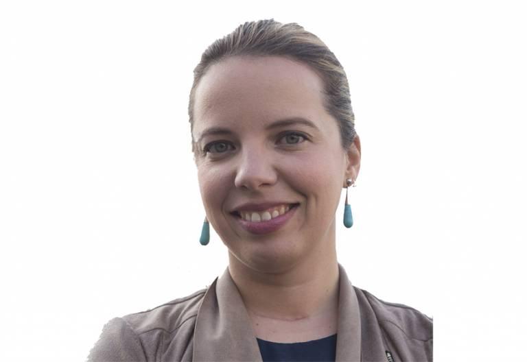 Ángeles Conde, periodista, premio Juan Pablo II Comunicación Crónica Blanca