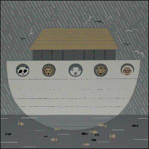 Arca de Noé, pintura de Edie Harper