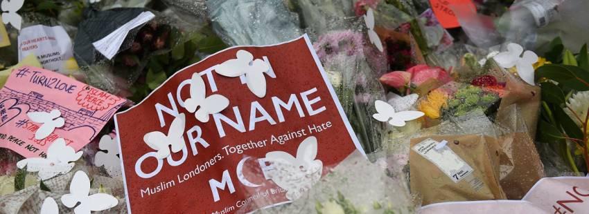 Manifestación en homenaje a las víctimas del atentado 5 de junio 2017 Londres