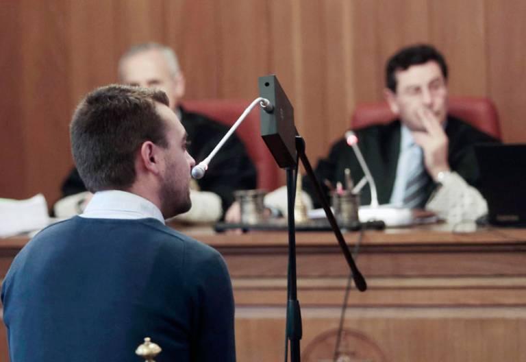 El joven denunciante, durante su declaración en el jucio Daniel marzo 2017 Caso Romanones