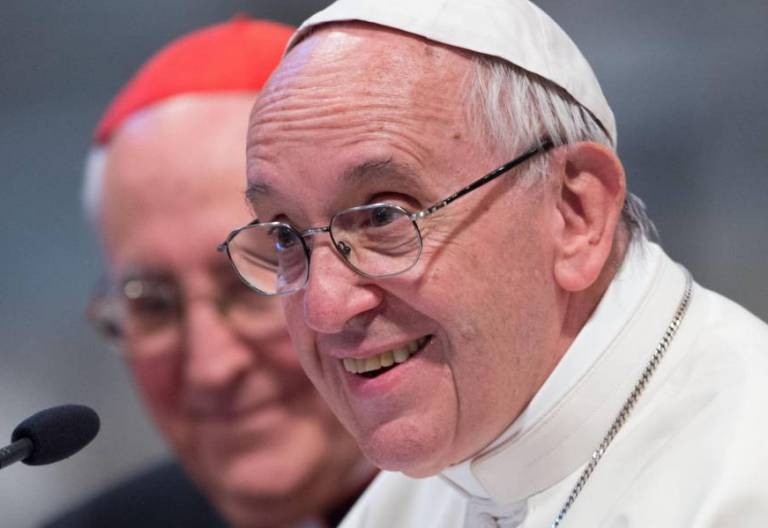 El Papa Francisco, durante un congreso de adolescentes en Roma/CNS