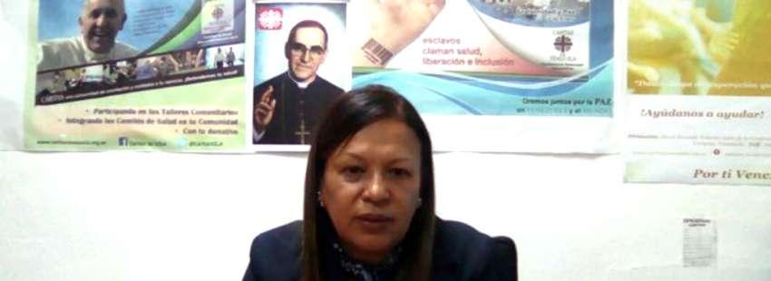 Janeth Márquez, directora ejecutiva de Cáritas Venezuela
